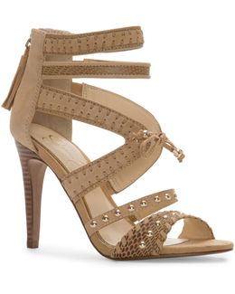 Elishia Stud Strap Heels