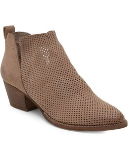 Sonya Perforated Leather Booties