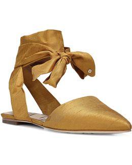 Brandie Ankle-tie Flats