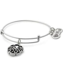 Compass Charm Bangle Bracelet