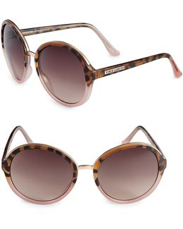 Glam 59mm Oversized Round Sunglasses