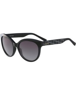 White Label Oval 58 Mm Sunglasses