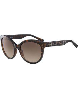 White Label Oval 58 Mm Sunglasses