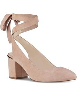 Andrea Kid Suede Pumps