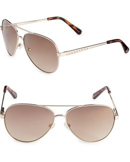60mm Aviator Sunglasses