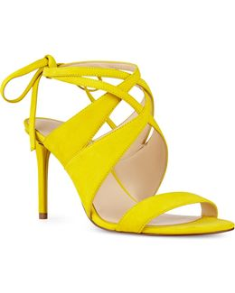 Ronnie Crisscross Suede Sandals