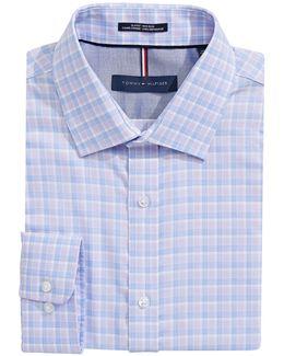 Slim Fit Non Iron Plaid Dress Shirt