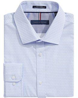 Slim Fit Non Iron Tile Print Dress Shirt