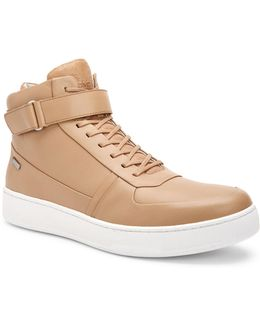 Navin Leather High-top Sneakers