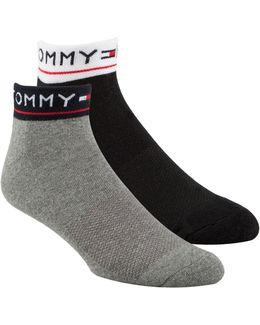 Two Pack Quarter Socks