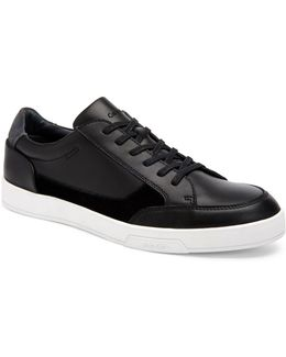 Bradley Brushed Leather Sneakers