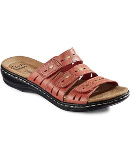 Leisa Leather Cushion-soft Sandals