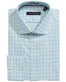 Regular Fit Non Iron Plaid Dress Shirt