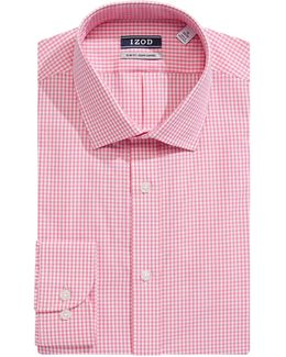 Slim Fit Wrinkle Free Gingham Dress Shirt