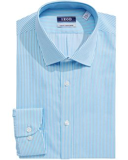 Slim Fit Wrinkle Free Striped Dress Shirt