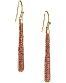 Shine On Pave Linear Earrings