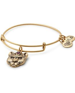 Wild Heart Charm Bangle Bracelet