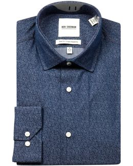 Wrinkle-free Paisley-printed Sport Shirt