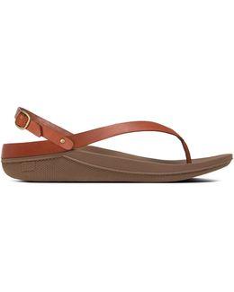 Flip Leather Back-strap Sandals