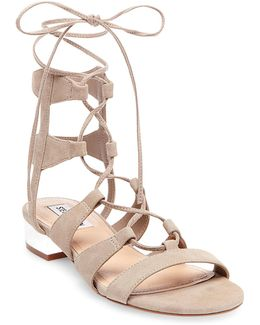 Chely Microsuede Sandals