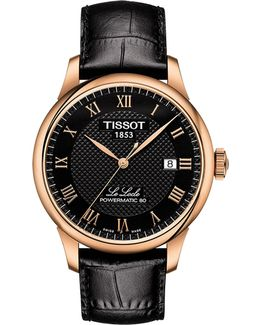 Le Locle Automatic Calfskin Leather Strap Watch