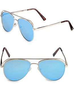 Satellite 55mm Aviator Sunglasses