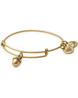Gold Flash Unexpected Blessings Charm Bangle Bracelet