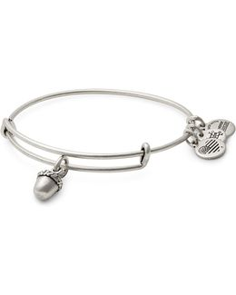 Silverplated Unexpected Blessings Charm Bangle Bracelet