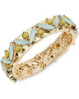 Cabochon And Crystal Stretch Bracelet