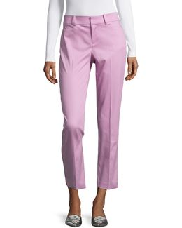 Kelly Stretch Pique Ankle Pants