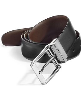 Love Triangle Reversible Leather Belt