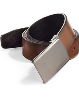 Matte At Me Reversible Leather Belt