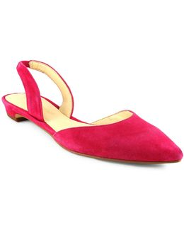 Tevelyn Suede Dorsay Flats