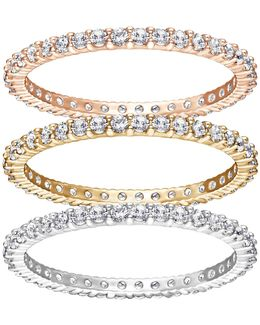 Vittore Crystal Rose Three Ring Set