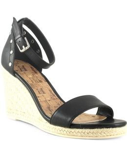 Bae Faux Leather Espadrille Wedge Sandals