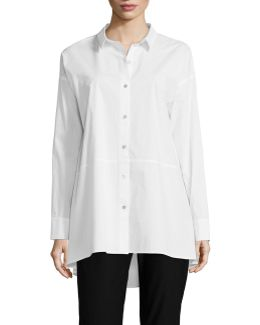 Classic Collar Oversized Shirt