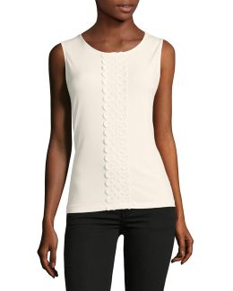 Crochet Placket Stretch Tank