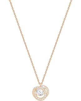 Generation Pear Crystal Rose Goldplated Pendant Necklace