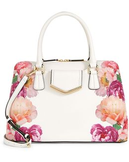 On My Corner Floral Satchel