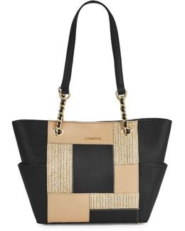 Mercury Saffiano And Cork Tote Bag
