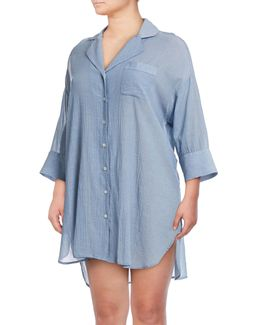 Dolman Crinkle Sleep Shirt
