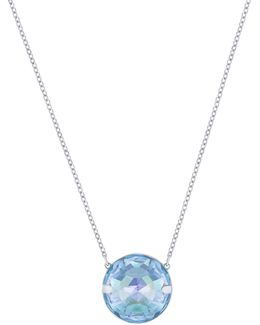 Globe Crystal Rhodium-plated Pendant Necklace