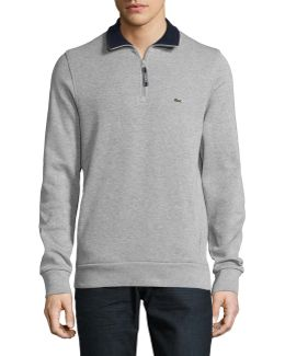 Lined Quarter Zip Long Sleeve Pullover