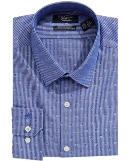 Heritage Slim-fit Striped Butterfly Dress Shirt
