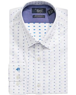Heritage Slim-fit Dotted Dress Shirt