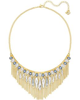 Gipsy Crystal Goldplated Layered Fringe Necklace