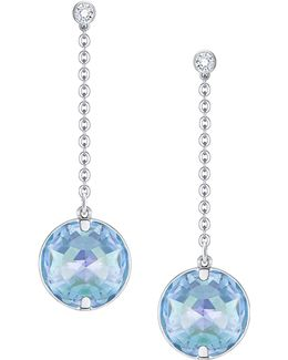 Globe Crystal Rhodium-plated Drop Earrings