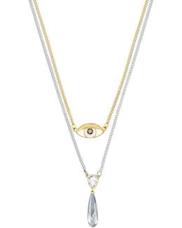 Gipsy Crystal Two-tone Layered Pendant Necklace