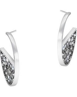 Crystaldust Crystal Palladium-plated Hoop Earrings