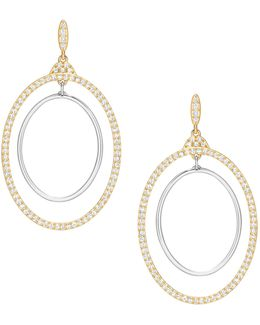 Gilberte Crystal Two-tone Goldplated Concentric Hoop Earrings